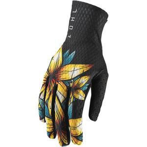 Thor Agile Floral Gloves Floral (Black, X-Large)