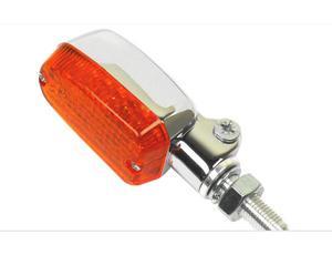 K&S Technologies 26-8300CM Chrome Aluminum Marker LED Lights - Oblong with Amber Lens - Two Wire
