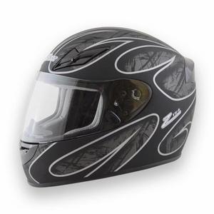 ZAMP Small Black Matte/Silver DOT/Snell M2015 FS-8 Graphic Helmet P/N H045C01S