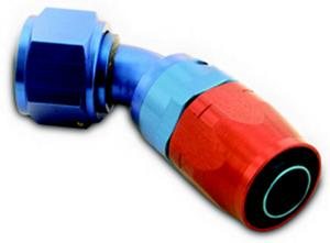 A-1 Products 45 Degree 16 AN Hose to 6 AN Female 200 Series Hose End P/N 04516
