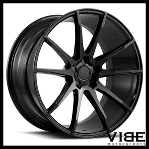 "20"" SAVINI BM12 GLOSS BLACK CONCAVE WHEELS RIMS FITS NISSAN 370Z"