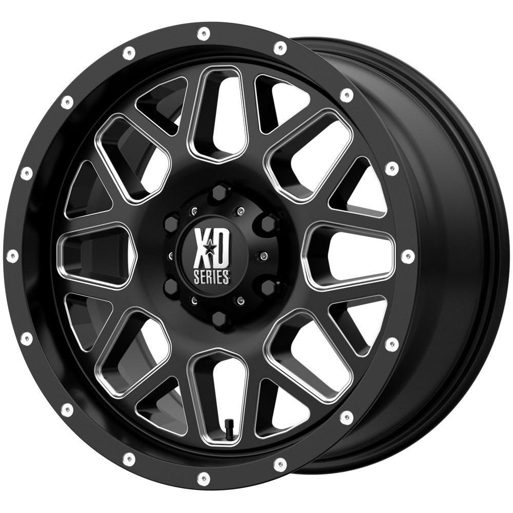 "XD Series XD820 Grenade 18x9 8x6.5"" +18mm Black/Milled Wheel Rim 18"" Inch"