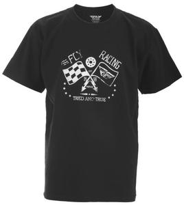 Fly Racing Tried and True Youth T-Shirt (Black, Large)