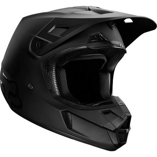 Fox V2 Matte Helmet Matte Black (Black, Medium)