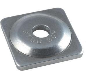 Stud Boy 2061-P5 Square Backer Plates - Aluminum - Silver - 5/16in. Thread