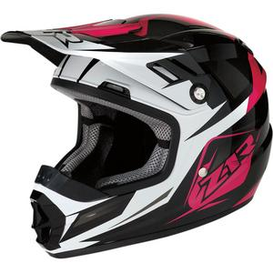 Z1R Rise Ascend Youth Helmet (Pink, Large)