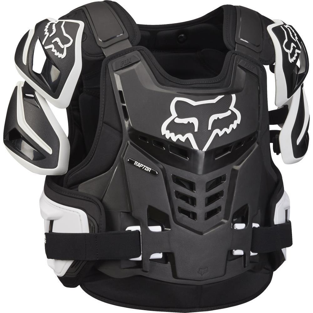Fox Raptor Vest Black/White (Black, Large - X-Large)
