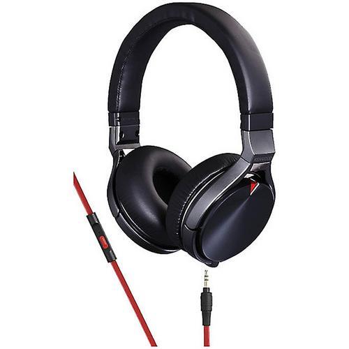 Kenwood KH-KR900 On-Ear Headphones with Microphone, Black