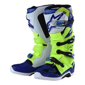 Troy Lee Designs Alpinestar Tech 7 Boots Flo Yellow/Blue (Yellow, 10)