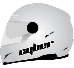 Cyber Adult Motorcycle Helmet US-108 Light Silver XS