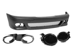 97-03 BMW E39 5-SERIES M5 STYLE FRONT BUMPER W/ SMOKE ECODE FOG LIGHTS + COVERS