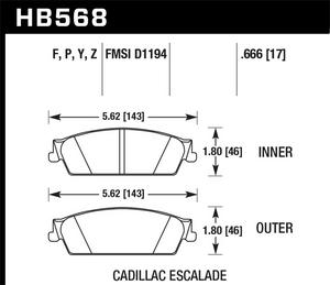 Hawk Performance HB568Y.666 Disc Brake Pad