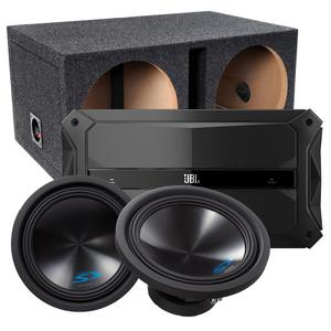 "Sub & Amp Package - JBL GTR-1001 Amp, 2 Alpine 12"" Subwoofers & Box"