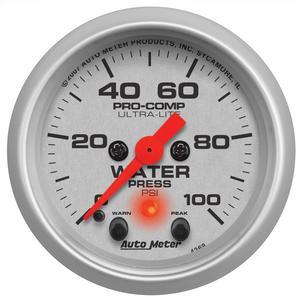 AutoMeter 4368 Ultra-Lite Electric Water Pressure Gauge