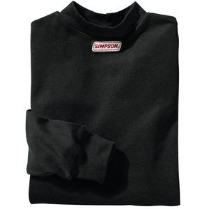 SIMPSON SAFETY X-Large Black Crew Neck Long Sleeve Underwear Top P/N 20600X