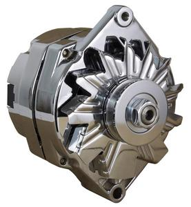 NEW CHROME CHEVELLE ALTERNATOR FITS 110 AMP 3 WIRE 65-85 SELF EXCITING ENERGIZING