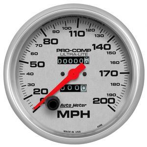 AutoMeter 4496 Ultra-Lite In-Dash Mechanical Speedometer