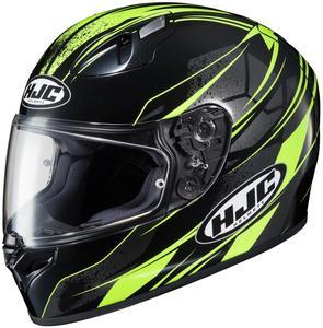 HJC FG-17 Toba Helmet Hi-Viz Yellow (MC-3H) (Black, XXX-Large)