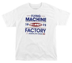 FMF Racing Men's Recoil Tee T-Shirt White M