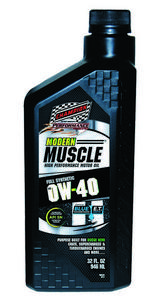 CHAMPION BRAND 0W40 Synthetic Modern Muscle Motor Oil 1 qt P/N 4402H