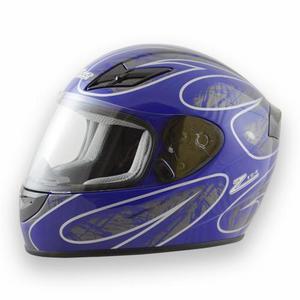 ZAMP X-Large Black Matte/Blue DOT/Snell M2015 FS-8 Graphic Helmet P/N H045C04XL