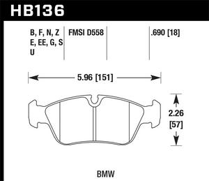 Hawk Performance HB136N.690 Disc Brake Pad