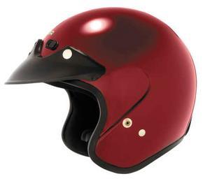Cyber U-6 Motorcycle Open Face Helmet Wineberry 2XS