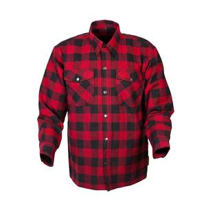 Scorpion Adult Covert Flannel Motorcycle Riding Shirt 3XL Red/Black