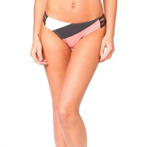 Fox Kingsport Lace Up Bikini Bottom Blush (Pink, Small)