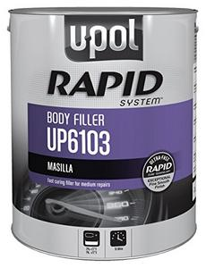 U-POL Products Rapid System Body Filler, Gray, 6lbs (UPL-UP6103)