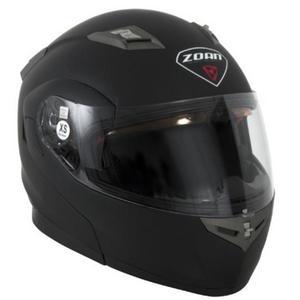 Zoan Flux 4.1 Solid Snow Helmet with Electric Shield Matte Black (Black, XX-Large)