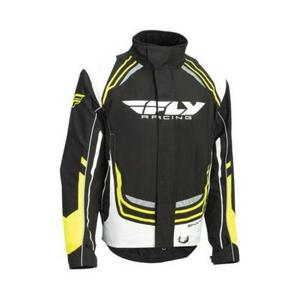 Fly Racing SNX Pro Youth Jacket Black/White/Hi-Vis (Black, Small)
