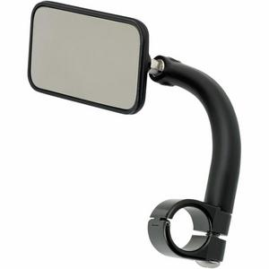 Biltwell Inc. 6502-278-101 Rectangular Utility Mirror with Clamp-On Mount for 7/8in. Handlebar - Black
