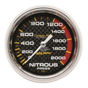 AutoMeter 4828 Carbon Fiber Mechanical Nitrous Pressure Gauge