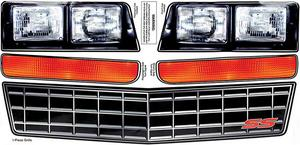 Allstar Performance Chevy Monte Carlo 1983-88 Nose Graphics P/N 23014
