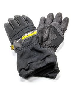 PXP RACEWEAR Large Black Carbon-X Driving Gloves P/N 584