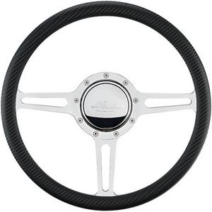 BILLET SPECIALTIES Aluminum 3 Spoke Steering Wheel P/N 30137