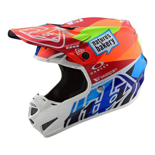 Troy Lee Designs SE4 Composite Jet Helmet Navy/Orange (Orange, Large)