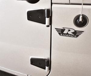 Rampage 87641 Door Hinges Fits 07-18 Wrangler (JK)