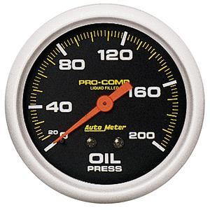 AutoMeter 5422 Pro-Comp Liquid-Filled Mechanical Oil Pressure Gauge