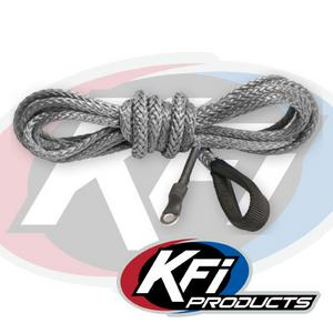 "KFI Replacement Synthetic Winch Rope 3/16"" X 12' Smoke SYN19-S12"