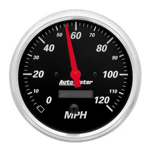AutoMeter 1489 Designer Black Electric Programmable Speedometer