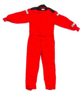 G-FORCE Red Small Single Layer GF145 1 Piece Driving Suit P/N 4145SMLRD