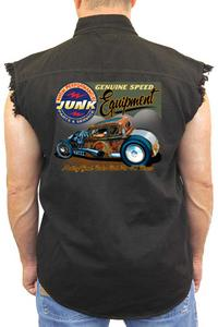 Men's Sleeveless Denim Shirt Genuine Speed Equipment: BLACK (3XL)