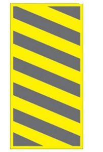 Voss 459 BCL YR 6x12in. Trail Sign - Left Hazard (Yellow)