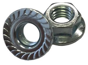 Spin Lock Nut with Serration M8-1.25 17mm Outside Diameter