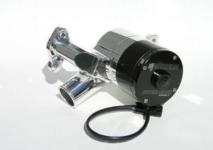 MEZIERE Polished Alum Hi-Flow 300 Series Electric Water Pump Kit SBC P/N WP301U