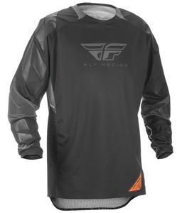 Fly Racing Patrol XC Jersey Black/Gray (Black, Large)