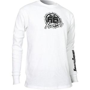 Throttle Threads Thermal Shirt (White, Small)