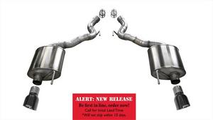 Corsa Performance 14338BLK Touring Axle-Back Exhaust System Fits 15-17 Mustang